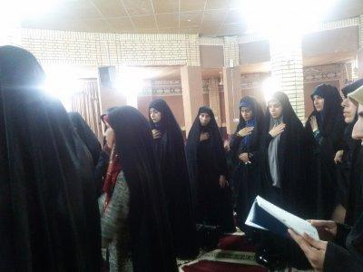 برگزاری مراسم وفات حضرت زینب در طلاییه با روضه خوانی خانم سیاحی معاونت فرهنگی آبدانان