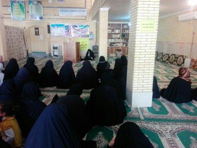 """برگزاری مراسم شهادت حضرت فاطمه""""س"""" توسط خانم حسینی"""